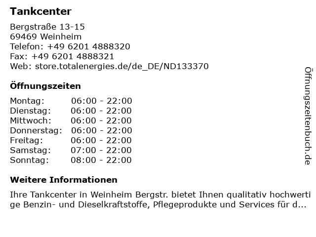 Tankcenter in Weinheim: Adresse und Öffnungszeiten