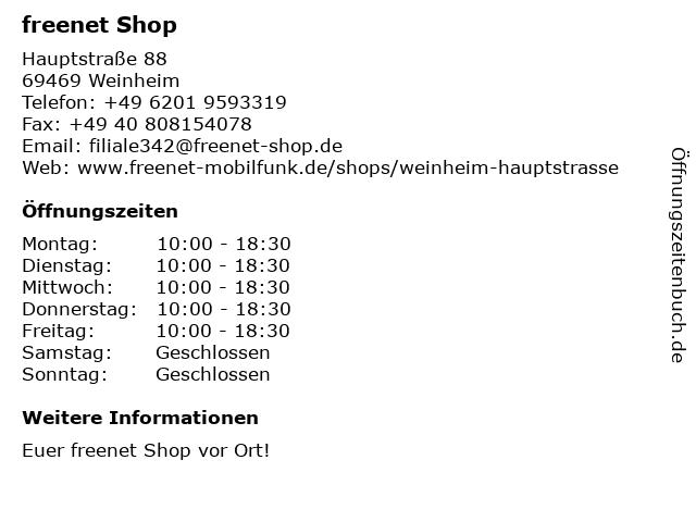 mobilcom-debitel in Weinheim: Adresse und Öffnungszeiten