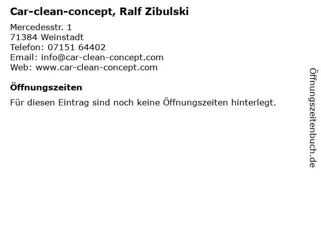 Car-clean-concept, Ralf Zibulski in Weinstadt: Adresse und Öffnungszeiten