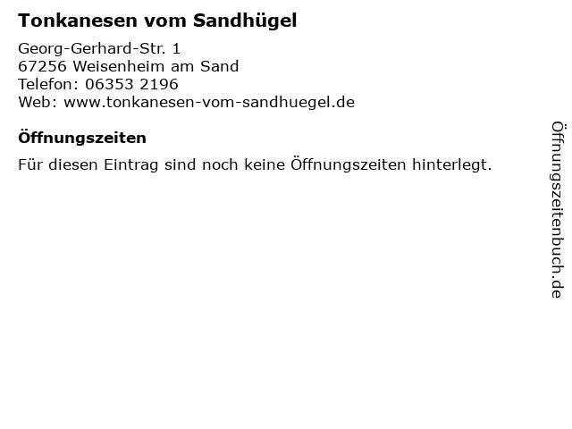 Tonkanesen vom Sandhügel in Weisenheim am Sand: Adresse und Öffnungszeiten