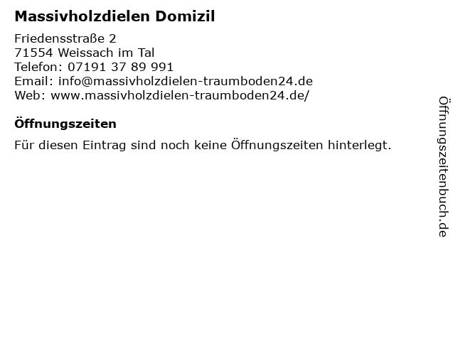 Massivholzdielen Domizil in Weissach im Tal: Adresse und Öffnungszeiten