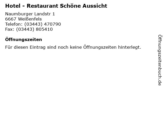 ᐅ Offnungszeiten Hotel Restaurant Schone Aussicht Naumburger