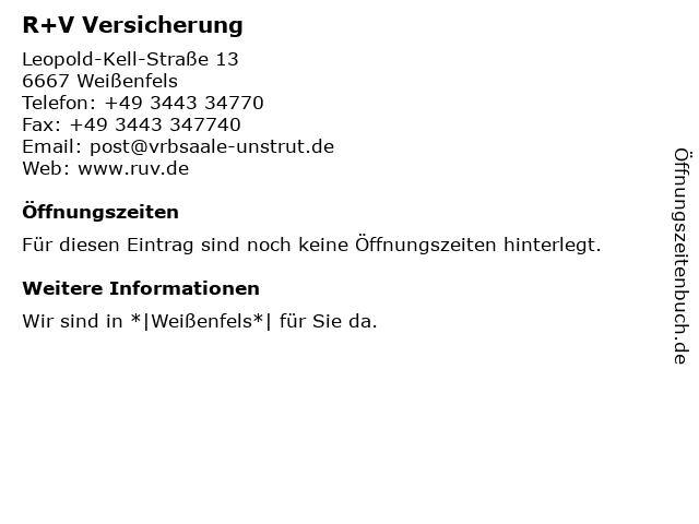 Volks- und Raiffeisenbank Saale-Unstrut eG - Bankstelle Weißenfels in Weißenfels: Adresse und Öffnungszeiten
