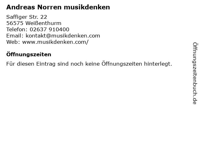 Andreas Norren musikdenken in Weißenthurm: Adresse und Öffnungszeiten