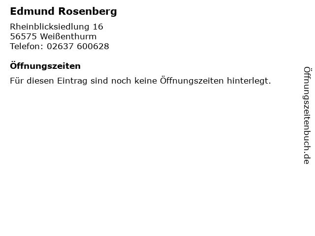 Edmund Rosenberg in Weißenthurm: Adresse und Öffnungszeiten