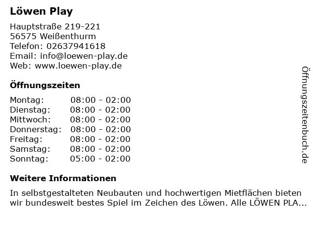 Löwen Play in Weißenthurm: Adresse und Öffnungszeiten