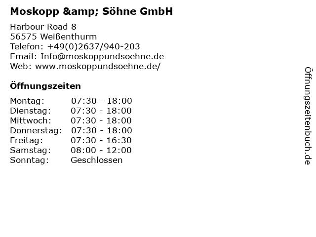 Moskopp & Söhne GmbH in Weißenthurm: Adresse und Öffnungszeiten