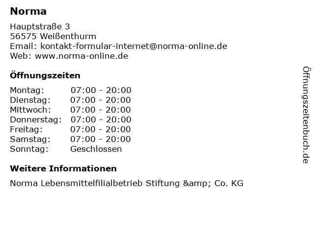 Norma in Weißenthurm: Adresse und Öffnungszeiten