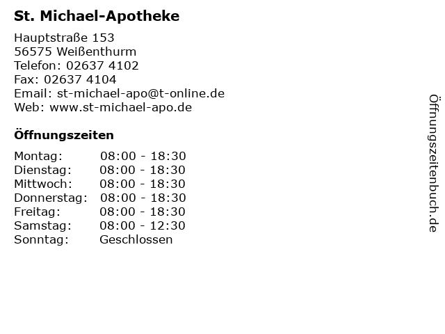 St. Michael-Apotheke in Weißenthurm: Adresse und Öffnungszeiten