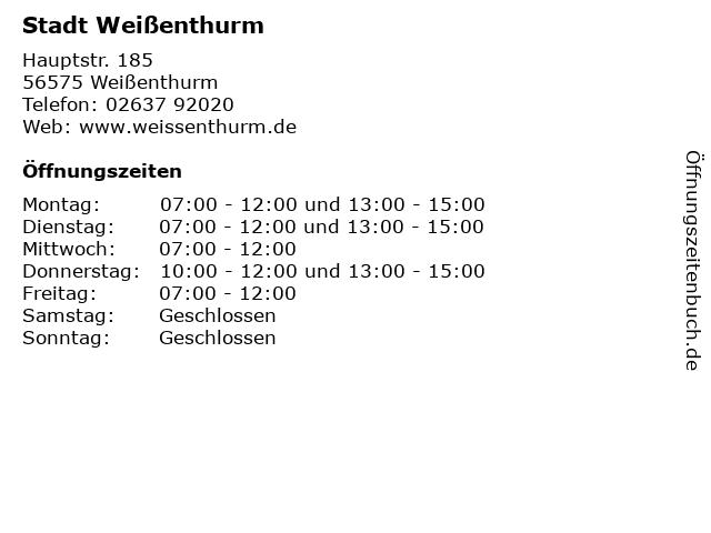 Stadt Weißenthurm in Weißenthurm: Adresse und Öffnungszeiten