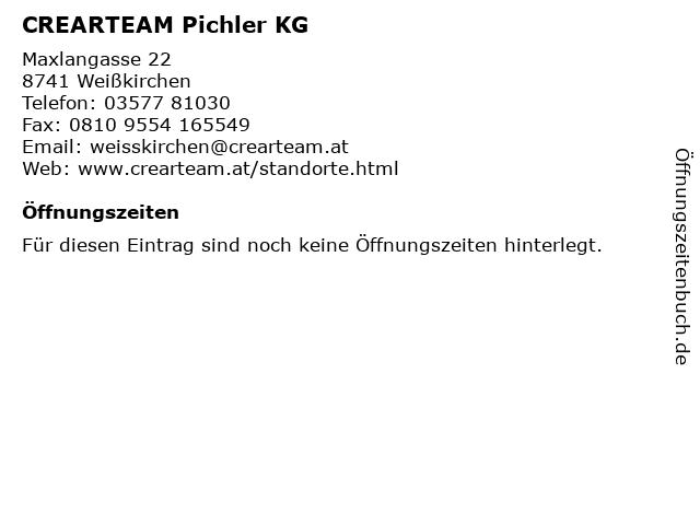 CREARTEAM Pichler KG in Weißkirchen: Adresse und Öffnungszeiten