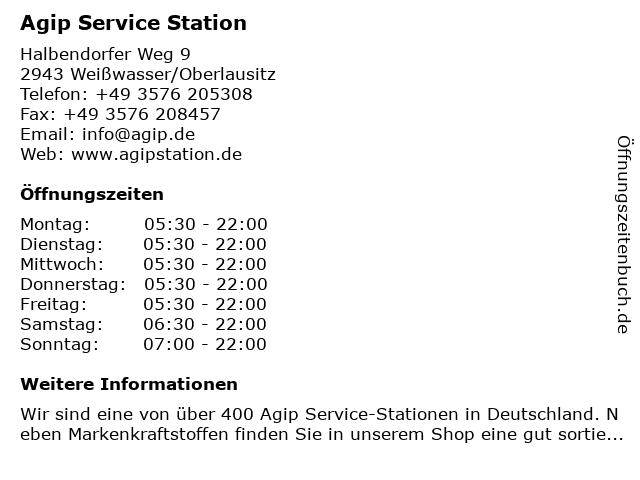Agip Service-Station in Weißwasser/O.L.: Adresse und Öffnungszeiten
