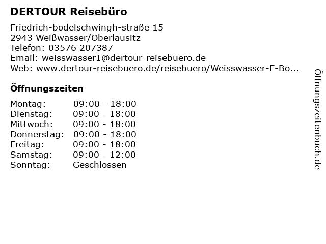 DER Deutsches Reisebüro in Weißwasser/Oberlausitz: Adresse und Öffnungszeiten
