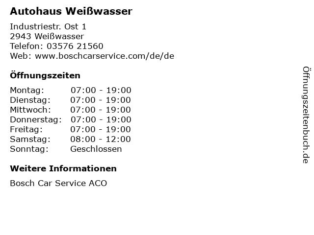 Autohaus Weißwasser in Weißwasser: Adresse und Öffnungszeiten