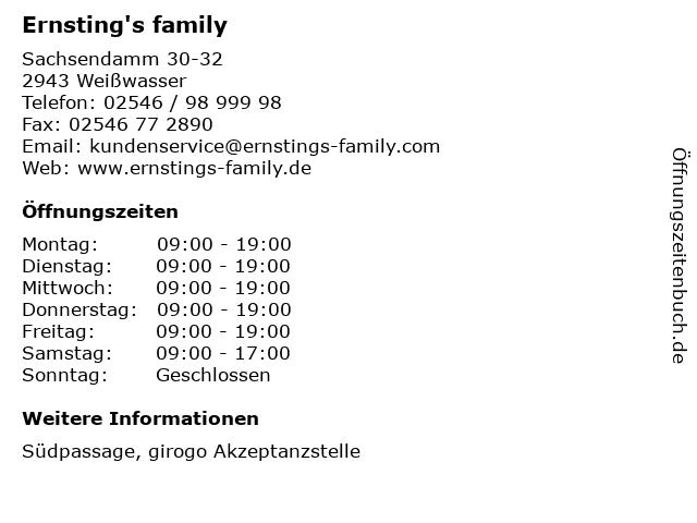 Ernsting's family GmbH & Co. KG in Weißwasser: Adresse und Öffnungszeiten