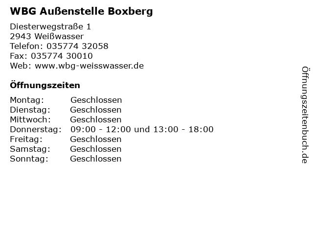 WBG Außenstelle Boxberg in Weißwasser: Adresse und Öffnungszeiten