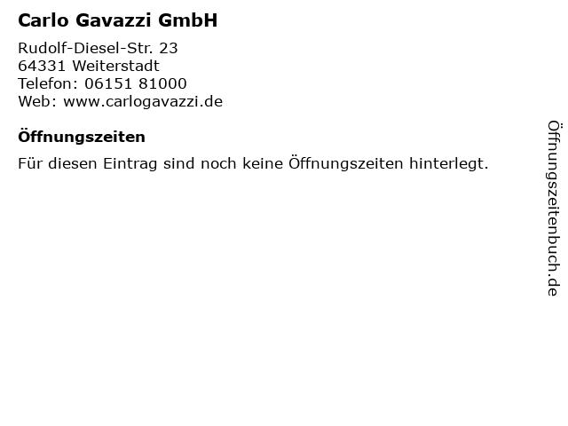 Carlo Gavazzi GmbH in Weiterstadt: Adresse und Öffnungszeiten