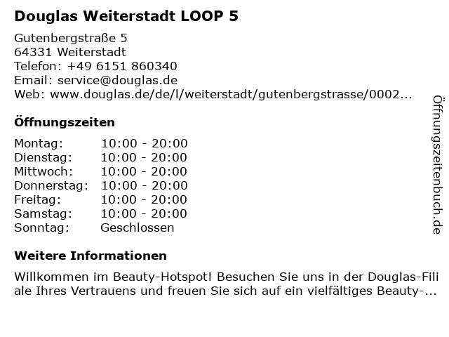 Parfümerie Douglas Weiterstadt in Weiterstadt: Adresse und Öffnungszeiten