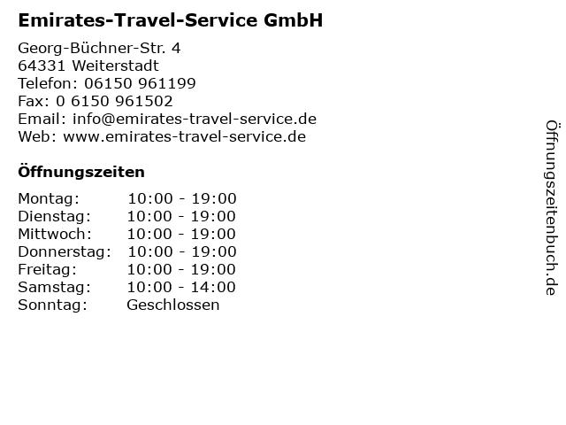 Emirates-Travel-Service GmbH in Weiterstadt: Adresse und Öffnungszeiten