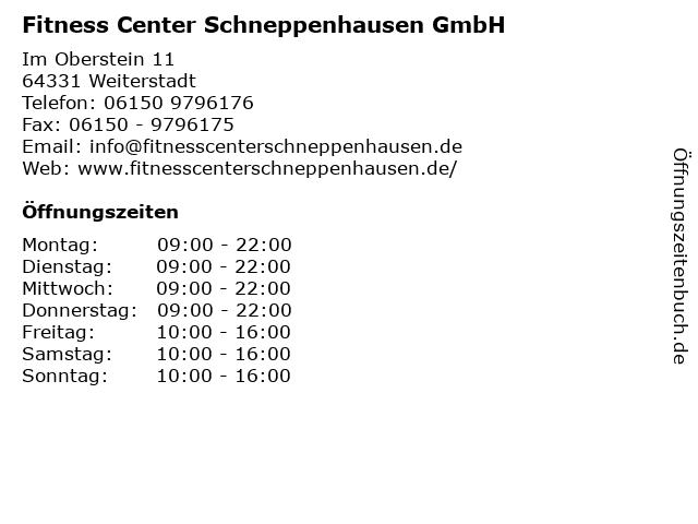 Fitness Center Schneppenhausen GmbH in Weiterstadt: Adresse und Öffnungszeiten