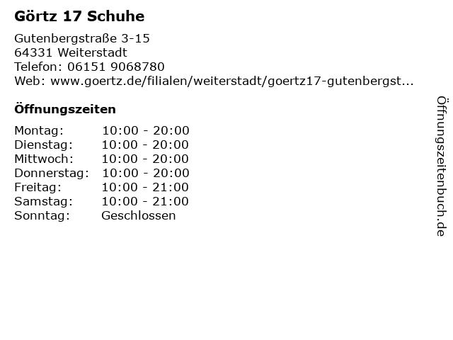 Görtz 17 in Weiterstadt: Adresse und Öffnungszeiten