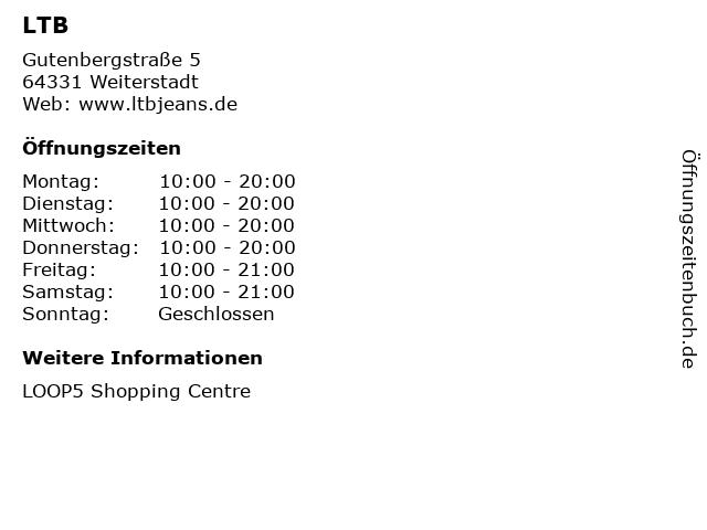 LTB in Weiterstadt: Adresse und Öffnungszeiten