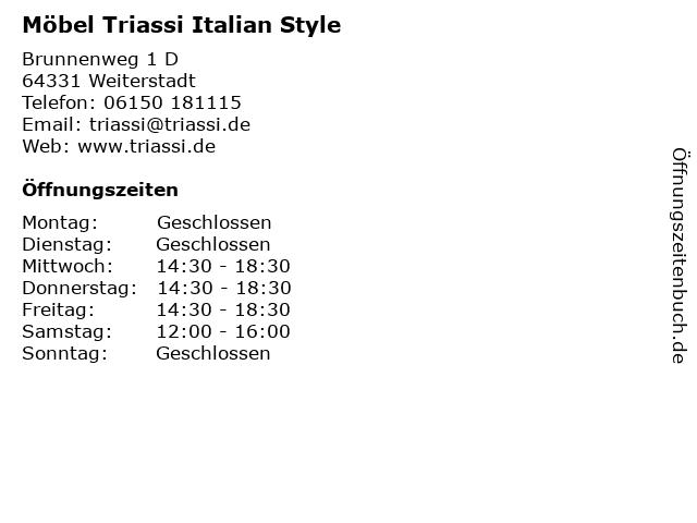 Möbel Triassi Italian Style in Weiterstadt: Adresse und Öffnungszeiten