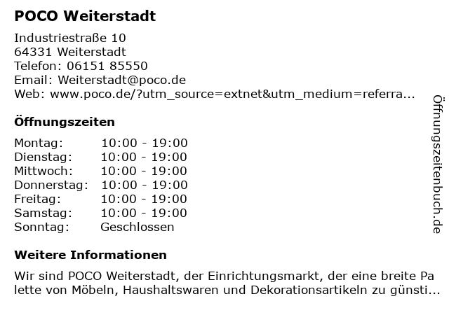Poco in Weiterstadt: Adresse und Öffnungszeiten