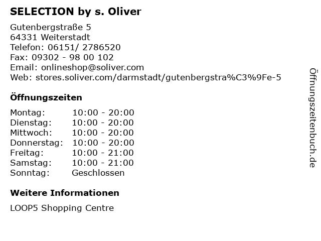 SELECTION by s. Oliver in Weiterstadt: Adresse und Öffnungszeiten