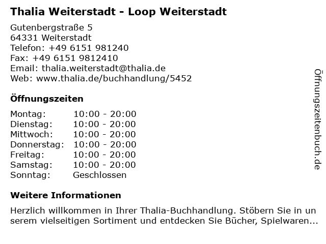 Thalia Weiterstadt - Loop Weiterstadt in Weiterstadt: Adresse und Öffnungszeiten