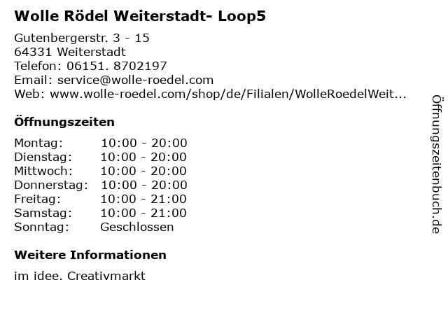 Wolle Rödel Weiterstadt- Loop5 in Weiterstadt: Adresse und Öffnungszeiten