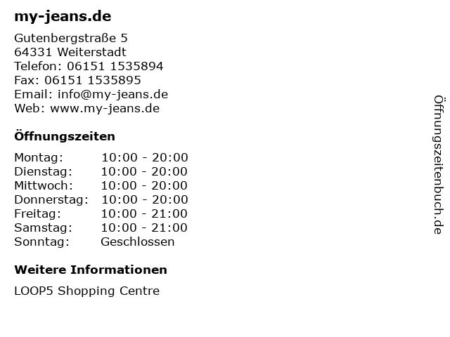 my-jeans.de in Weiterstadt: Adresse und Öffnungszeiten