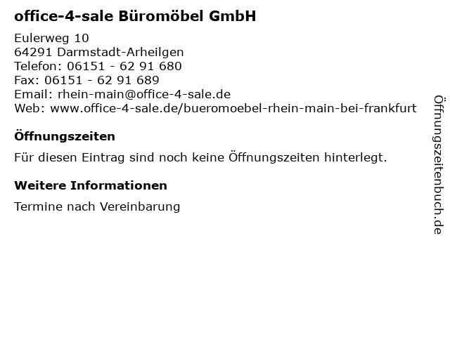 ᐅ öffnungszeiten Office 4 Sale Büromöbel Gmbh Standort Rhein