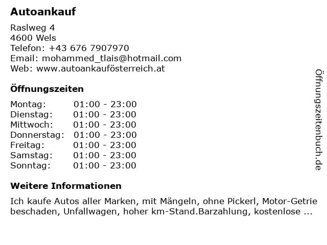 Autoankauf in Wels: Adresse und Öffnungszeiten