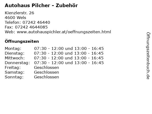 Autohaus Pilcher - Zubehör in Wels: Adresse und Öffnungszeiten