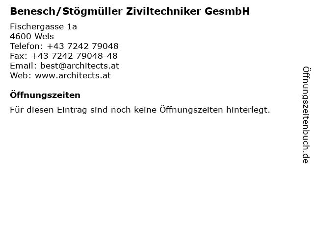 Benesch/Stögmüller Ziviltechniker GesmbH in Wels: Adresse und Öffnungszeiten