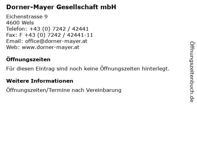 Dorner-Mayer Gesellschaft mbH in Wels: Adresse und Öffnungszeiten
