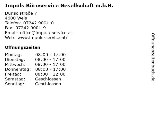 Impuls Büroservice Gesellschaft m.b.H. in Wels: Adresse und Öffnungszeiten