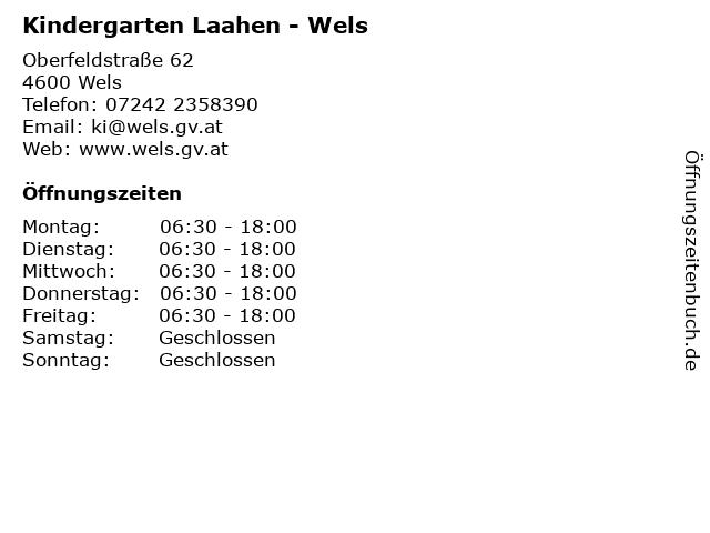 Kindergarten Laahen - Wels in Wels: Adresse und Öffnungszeiten
