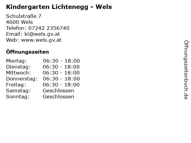 Kindergarten Lichtenegg - Wels in Wels: Adresse und Öffnungszeiten