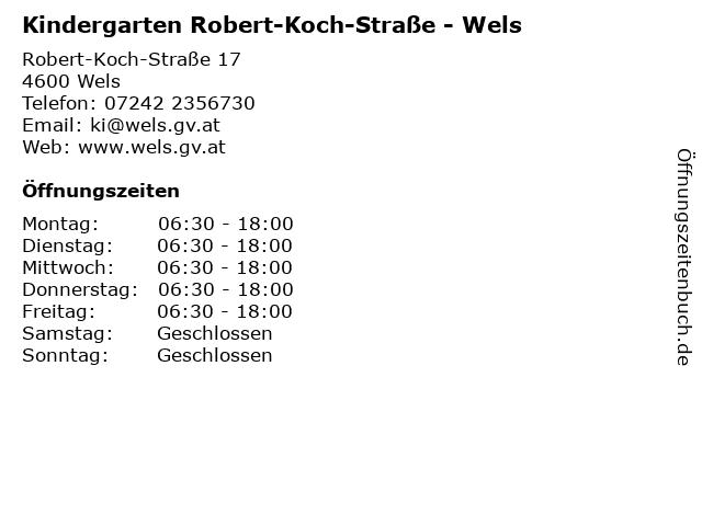 Kindergarten Robert-Koch-Straße - Wels in Wels: Adresse und Öffnungszeiten