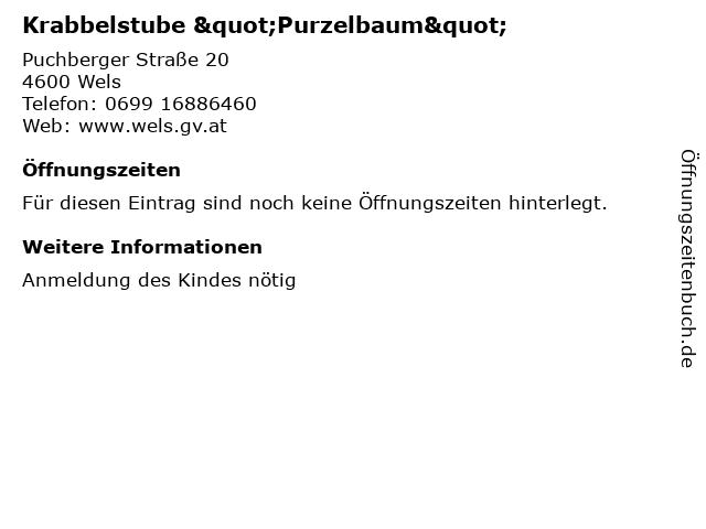 """Krabbelstube """"Purzelbaum"""" in Wels: Adresse und Öffnungszeiten"""