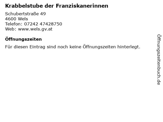 Krabbelstube der Franziskanerinnen in Wels: Adresse und Öffnungszeiten