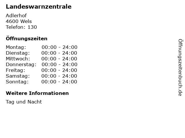 Landeswarnzentrale in Wels: Adresse und Öffnungszeiten