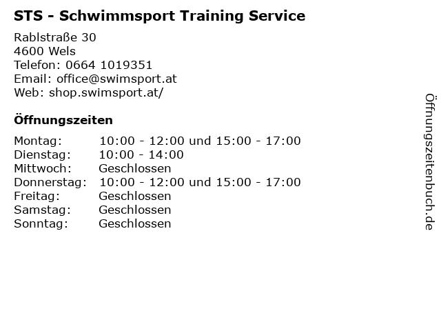 STS - Schwimmsport Training Service in Wels: Adresse und Öffnungszeiten