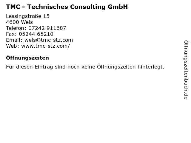 TMC - Technisches Consulting GmbH in Wels: Adresse und Öffnungszeiten