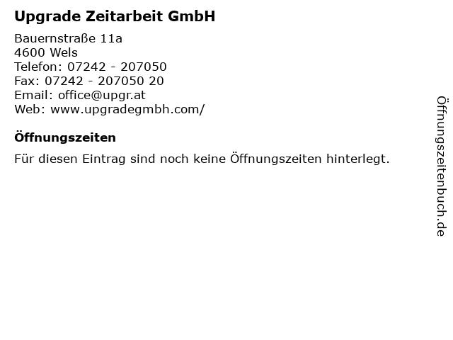 Upgrade Zeitarbeit GmbH in Wels: Adresse und Öffnungszeiten