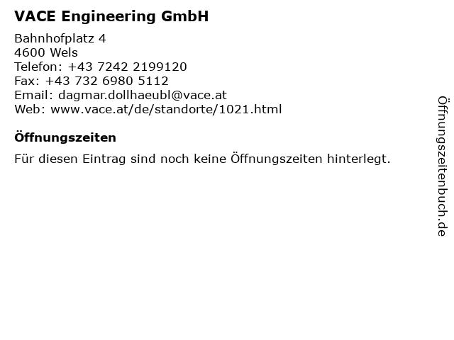 VACE Engineering GmbH in Wels: Adresse und Öffnungszeiten