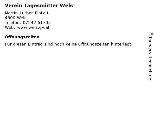 Verein Tagesmütter Wels in Wels: Adresse und Öffnungszeiten