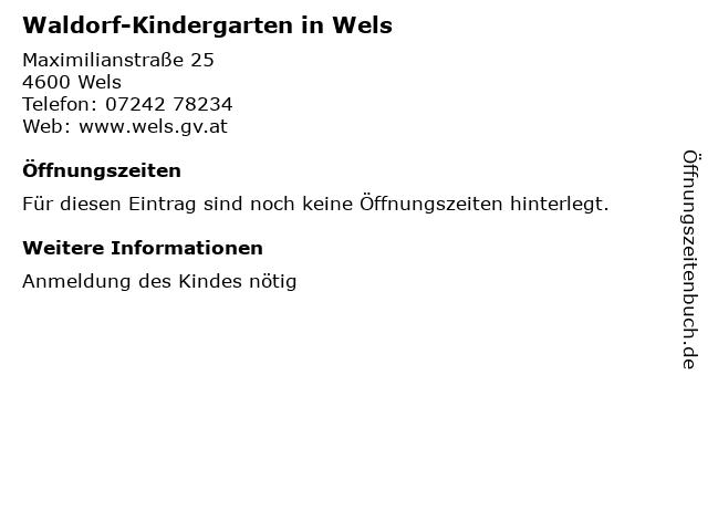 Waldorf-Kindergarten in Wels in Wels: Adresse und Öffnungszeiten